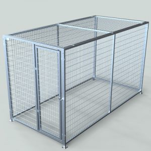 Galvanized Steel Modular Dog Kennels For Sale | TK Products, LLC